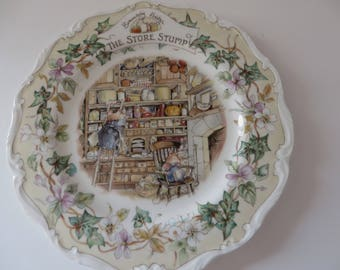 Brambly Hedge The Store Stump 1980's vintage plate