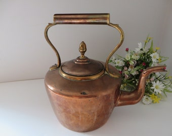 Victorian large copper 1850's kettle