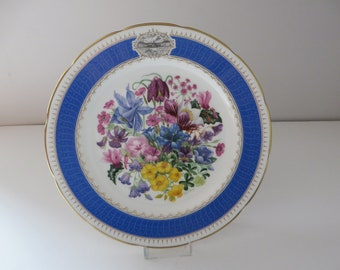 Chelsea Flower show Alpine Glory vintage 1991 plate