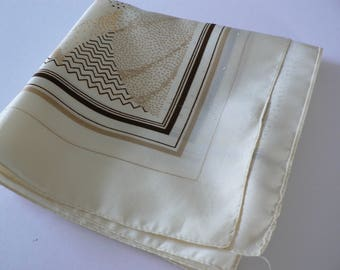 Cream  polka dots 1990's vintage scarf