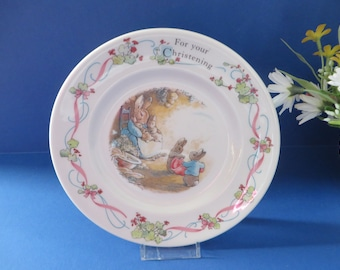 Wedgwood Peter Rabbit christening vintage 1990's tea plate