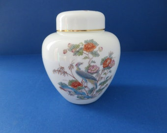 Wedgwood Kutani Crane vintage 1980's ginger jar