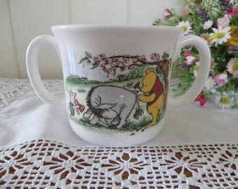Winnie the Pooh  vintage 1980's child's mug
