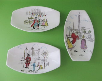 Foley vintage 1950's London Pride set of small dishes