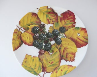 Royal Doulton Autumn fruits Blackberry vintage 1990's plate