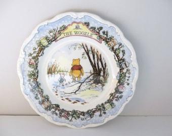 The Woozle vintage Winnie the Pooh 1980's plate