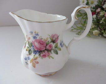 Royal Albert vintage 1950's Moss Rose small creamer jug
