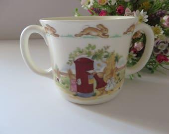 Bunnykins vintage 1990's posting a letter mug