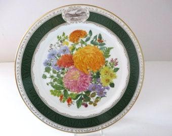 Royal Grafton vintage 1989  Autumn Glory Chelsea Flower show plate