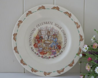 Bunnykins vintage 1980's christening plate