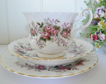 Royal Albert  vintage 1970's Lavender Rose tea trio