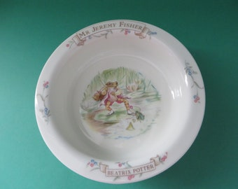 Beatrix Potter vintage 1980's Jeremy Fisher Porringer