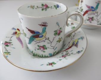 Crown Staffordshire antique 1906 coffee cup and saucer