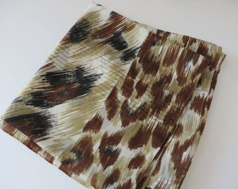 Animal print vintage 1980's scarf