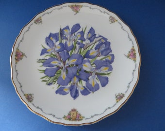 Royal Albert vintage 1990's Irises collectible plate