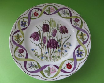 Wedgwood vintage 1990's Fritillaria plate