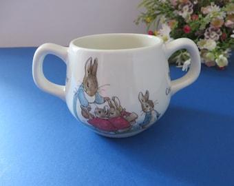 Peter Rabbit vintage 1970's two handle mug
