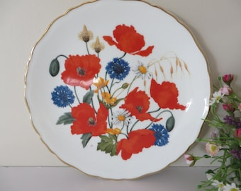 Royal Albert 1980's vintage Cornfield Poppies plate