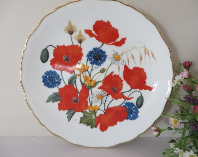 Featured listing image: Royal Albert 1980's vintage Cornfield Poppies plate