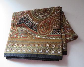 Vintage 1980's Italian rustic patterned scarf