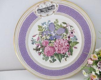 Royal Albert vintage 1990 Chelsea Flower show plate, Victorian Bouquet
