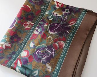 John Lewis vintage 1990's floral square scarf