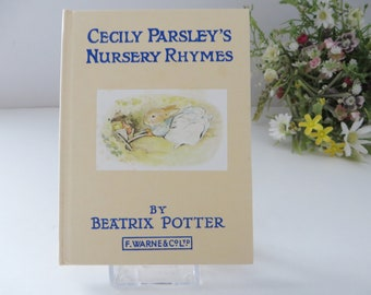 Beatrix Potter 1981 Cecily Parsley's Nursery Rhymes  vintage book