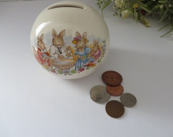 Bunnykins christening vintage 1980's money Globe