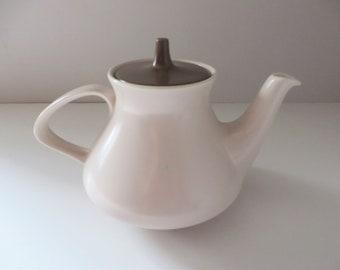 Poole Pottery vintage 1970's Mushroom and Sepia Teapot