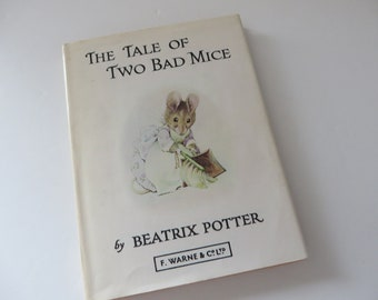 Beatrix Potter 1974 Tale of two bad mice vintage book