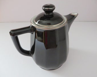 Apilco vintage 1980's black and platinum medium coffee pot