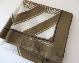 Michelangelo Roma vintage 1980's scarf