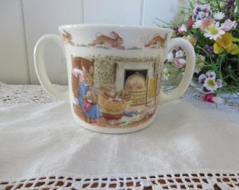Bunnykins vintage 1988 Fireside bath mug