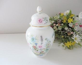Aynsley vintage 1970's Wild Tudor ginger jar