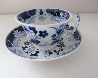 Antique Samuel and John Rathbone tea cup and saucer
