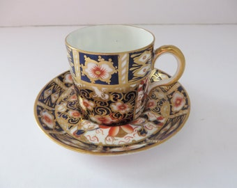 Royal Crown Derby Imari pattern 1820's coffee cup and saucer