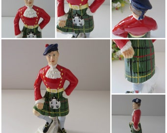 Vintage Adderly 1950's Scottish highlander figurine
