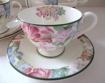 Royal Albert Fonteyn vintage 1980's coffee cup and saucer