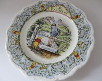 Royal Doulton vintage 1980's Pooh Sticks plate