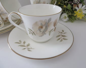 Royal Doulton  vintage 1970's Yorkshire Rose teacup and saucer