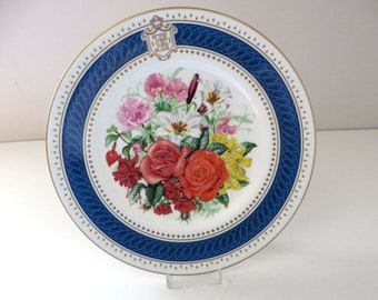 Worcester vintage 1980's Royal Celebration Bouquet decorative plate