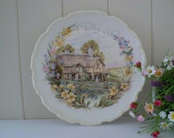 Royal Albert vintage plate 1984 Spring cottage garden