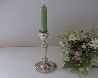 Vintage Silver coloured metal candlestick