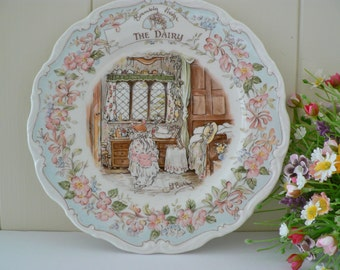 Brambly Hedge the Dairy 8 inch 1980's vintage plate