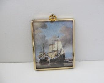 Peter Bates  miniature picture of a Dutch Man of War