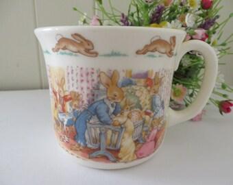 Bunnykins vintage bedtime for baby 1988 mug,