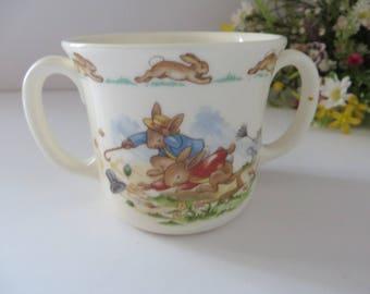 Bunnykins on a windy day vintage 1980's mug
