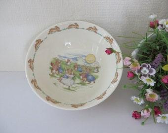 Royal Doulton Bunnykins vintage 1980's bowl