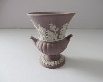 Wedgwood Jasperware Lilac vintage 1960's urn vase