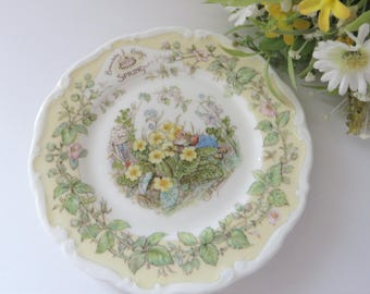 Brambly Hedge Spring vintage 1980's  plate